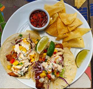 Robin's Restaurant - Beer Battered Fish Tacos