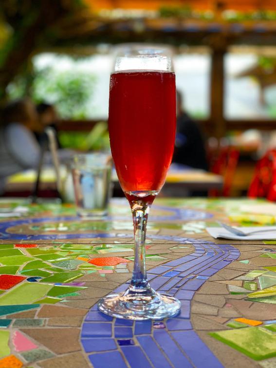Robin's Restaurant - Pomegranate Mimosa